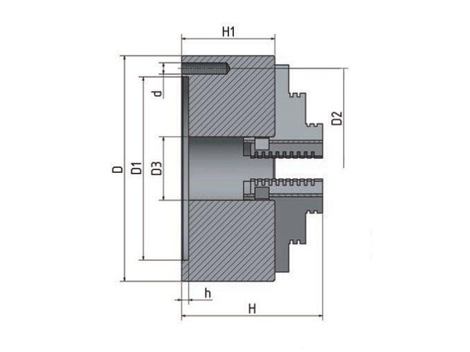 3-čelisťové sklíčidlo s centrickým upínáním Ø 80 mm  + Dárek dle vlastního výběru