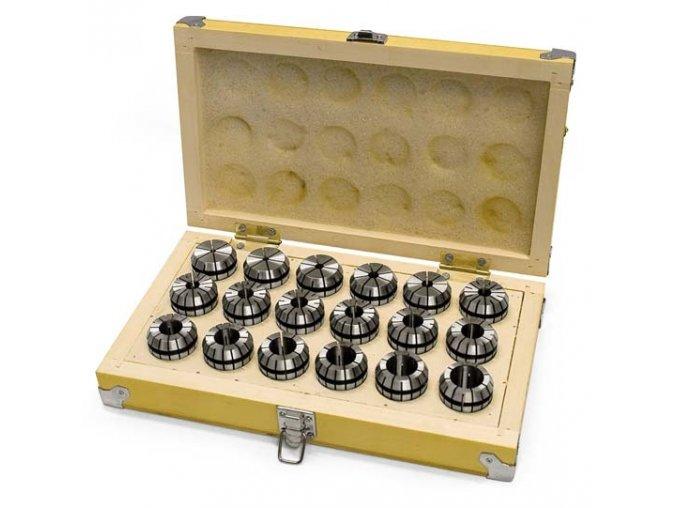Kleštiny ER32, 3 – 20 mm, 18 ks  + Dárek dle vlastního výběru