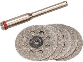 kotouče diamantové na přímou brusku, sada 6ks, průměr dříku 3,2mm, EXTOL CRAFT