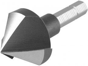 """záhlubník kuželový 90°, ∅25mm, 3břitá hlava, 1/4"""" šestihranné uchycení, HSS, EXTOL PREMIUM"""