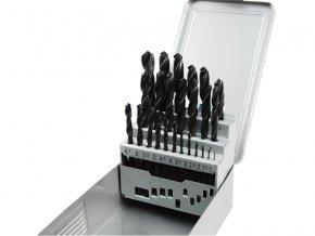 EXTOL PREMIUM - vrtáky do kovu v kovové krabičce sada 25ks, ∅1-13mm HSS