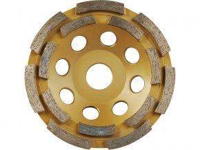 kotouč diamantový brusný dvouřadý, 115x22,2mm, výška segmentů 5mm, počet segmentů 16, EXTOL PREMIUM