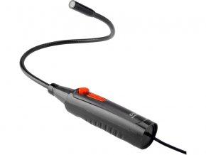 kamera inspekční USB, hlava kamery o průměru 14mm, rozsah zobrazení 56°, délka ohebného nástavce 60cm, délka kabelu 190cm, napájení pomocí USB 2.0 konektoru, LED osvětlení s možností volby intenzity, příslušenství: nás