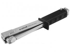 kladivo sponkovací, 6-10mm, možnost nastavení síly úderu, šířka spon 10,6mm, hřebík 10-14mm, EXTOL PREMIUM