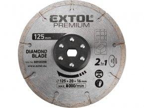 EXTOL PREMIUM - kotouč řezný diamantový 125x20mm
