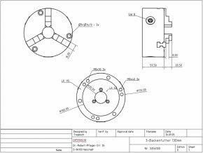 3-čelisťové sklíčidlo 125 mm pro RT 150  + Dárek dle vlastního výběru