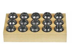 Kleštiny ER25, 1,5 – 16 mm, 15 ks  + Dárek dle vlastního výběru