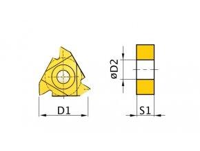 Břitové destičky AR 60°, 5 ks