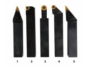 Soustružnické nože HM 25 mm, sada - 5 ks  + Dárek dle vlastního výběru
