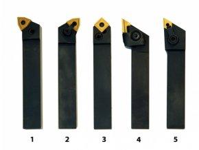Soustružnické nože HM 20 mm, sada - 5 ks  + Dárek dle vlastního výběru