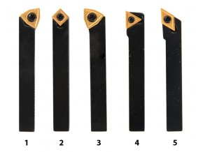 Soustružnické nože HM 8 mm, sada - 5 ks