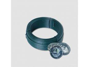 Napínací drát 3.4mmx78M zelený PVC