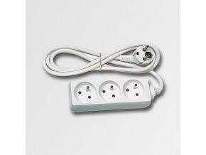 Prodlužovací kabel 3 zásuvky bílý 5m