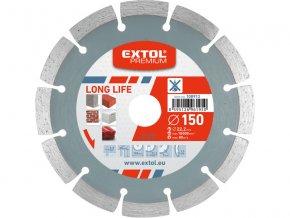 EXTOL PREMIUM - kotouč diamantový řezný segmentový Long Life na suché řezání 230x22,2mm
