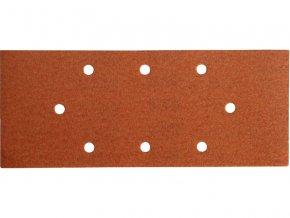 papír brusný, bal. 10ks, 93x230mm, P100, 8 otvorů, EXTOL PREMIUM