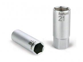 """hlavice nástrčná na zapalovací svíčky, 1/2"""", 21mm, L 65mm, 61CrV5, FORTUM"""