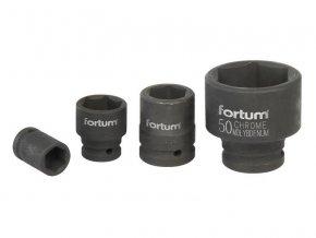 """hlavice nástrčná rázová, 3/4"""", 17mm, L 52mm, CrMoV, FORTUM"""