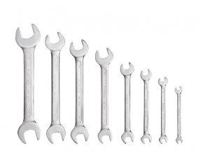 klíče ploché, sada 8ks, 6x7, 8x9, 10x11, 12x13, 14x17, 16x18, 19x21, 22x24mm, 61CrV5, FORTUM