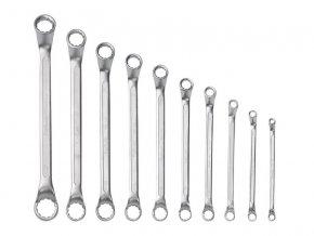 klíče očkové, sada 10ks, 6x7, 8x9, 10x11, 12x13, 14x15, 16x17, 18x19, 20x22, 21x23, 24x27mm, 61CrV5, FORTUM