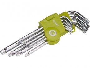 L-klíče TORX, sada 9ks, T 10-15-20-25-27-30-40-45-50, EXTOL CRAFT