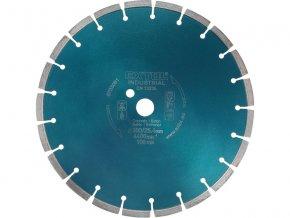 kotouč diamantový řezný segmentový na BETON, 350x25,4mm, suché i mokré řezání, EXTOL INDUSTRIAL  + Dárek dle vlastního výběru