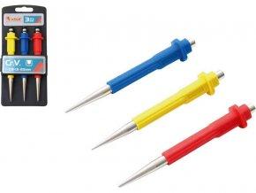 důlčíky, sada 3ks, 125mm, 0,8-1,5-2,5mm, délka 125mm, CrV, EXTOL PREMIUM