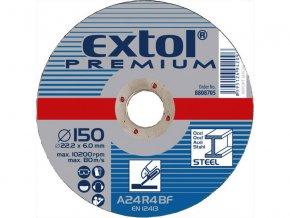 kotouč brusný na ocel, 150x6,0x22,2mm, EXTOL PREMIUM