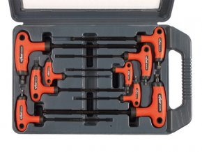 T-klíče TORX, sada 9ks, T 10-15-20x100mm, T 25-27-30-40x150mm, T 45-50x200mm, T-držadlo, CrV, EXTOL PREMIUM