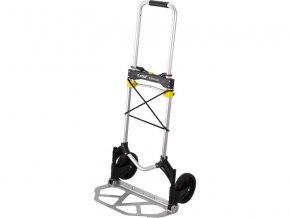 vozík-rudl skládací, nosná plocha 28x48cm, nosnost 80kg, upínací guma ∅8mm x 120cm zakončená háky, velikost složeného vozíku 78x48x6cm, konstrukce z kvalitní hliníkové slitiny, hmotnost 4kg, EXTOL PREMIUM