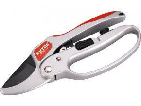 nůžky zahradnické s rohatkovým převodem, 205mm, s olejničkou, na stříhání větví do průměru 24mm, SK5, EXTOL PREMIUM