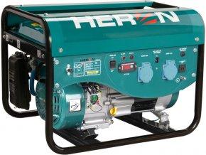 elektrocentrála benzínová a plynová (LGP/NG) 6,3HP, ruční start, HERON  + Doprava ZDARMA