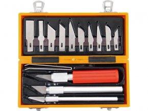 nože na vyřezávání, sada 14ks, v krabičce z ABS pl., EXTOL CRAFT