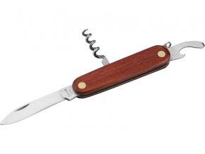 nůž kapesní zavírací 3dílný nerez, 85mm, délka zavřeného nože 85mm, složení: nůž, vývrtka, otvírák, dřevěná rukojeť, NEREZ, EXTOL CRAFT