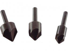 záhlubníky do vrtačky 90°, sada 3ks, ∅12-16-19mm, EXTOL CRAFT