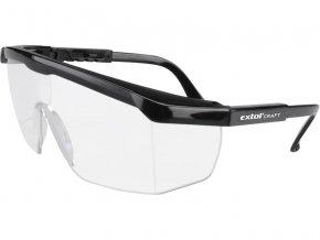 brýle ochranné čiré, univerzální velikost, zorník třídy F s ochranou proti oděru, EXTOL CRAFT