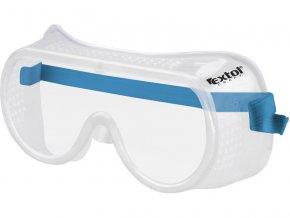 brýle ochranné přímo větrané, univerzální velikost, čirý, polykarbonátový plochý zorník třídy F, EXTOL CRAFT
