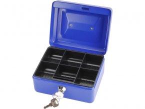 schránka na peníze přenosná s pořadačem, 152x118x80mm, 2 klíče, plastový pořadač na mince, EXTOL CRAFT