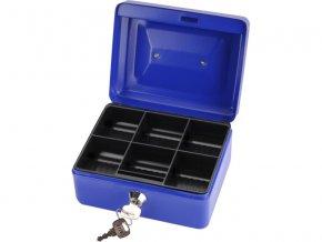 schránka na peníze přenosná s pořadačem, 200x160x90mm, 2 klíče, plastový pořadač na mince, EXTOL CRAFT