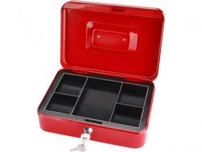 schránka na peníze přenosná s pořadačem, 250x180x90mm, 2 klíče, plastový pořadač na mince, EXTOL CRAFT