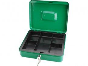 schránka na peníze přenosná s pořadačem, 300x240x90mm, 2 klíče, plastový pořadač na mince, EXTOL CRAFT