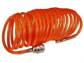 """hadice vzduchová spirálová s rychlospojkami, 1/4"""", ∅vnitřní 6mm, L 10m, EXTOL CRAFT"""