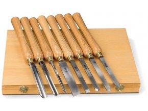Soustružnická dláta na dřevo sada 8 ks.  + Dárek dle vlastního výběru