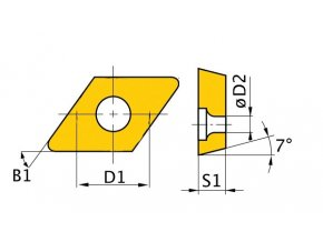 Břitové destičky D/55°, 5 ks