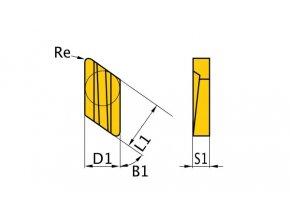 Břitové destičky K/55°, 5 ks
