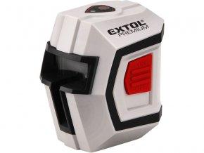 laser liniový, křížový samonivelační 1H1V, EXTOL PREMIUM