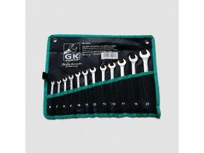 Sada klíčů očkopl. 6-22 mm 12 dílů chrom-obal