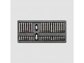 """Sada zástrčných hlavic 10mm SPLINE TRX  IMBUS 3/8""""1/2"""" 40 dílů, plastové plato"""