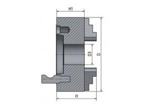 4-čelisťové sklíčidlo s centrickým upínáním ø 250 mm Camlock 6  + Dárek dle vlastního výběru