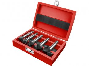 frézy-sukovníky do dřeva, sada 5ks s SK plátky, průměry 10-20-25-30-35mm, stopka 8-10mm