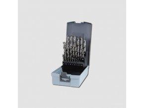 Sada vybrušovaných vrtáků do kovu HSS-G 25dílů v plastovém obalu